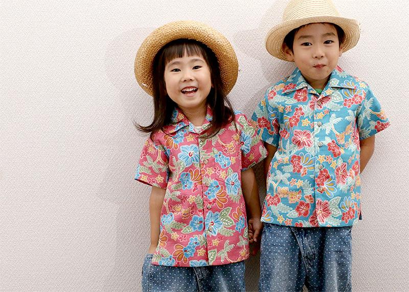 アロハシャツ−かりゆしウェア|トロピカルシーサーハイビ(開襟シャツ) メンズは、とにかく可愛く