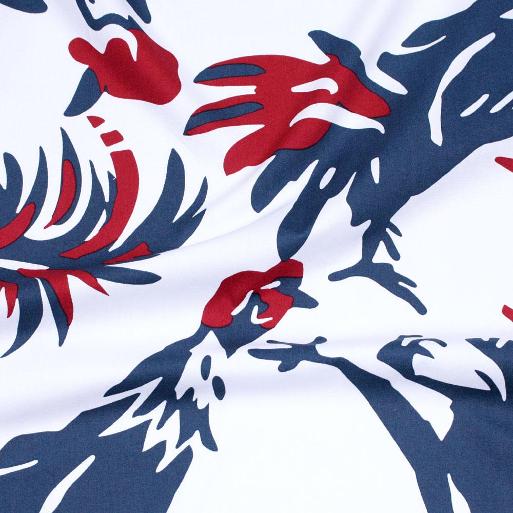 アロハシャツ−かりゆしウェア【タウチー(開襟シャツ) メンズ】は綿(ブロード)を使用