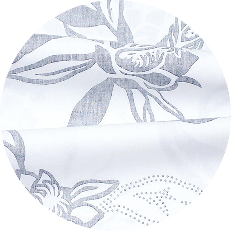 アロハシャツ−かりゆしウェア【月下美人(スリムフィット/ボタンダウンシャツ)裏地仕様 メンズ オフグレー】