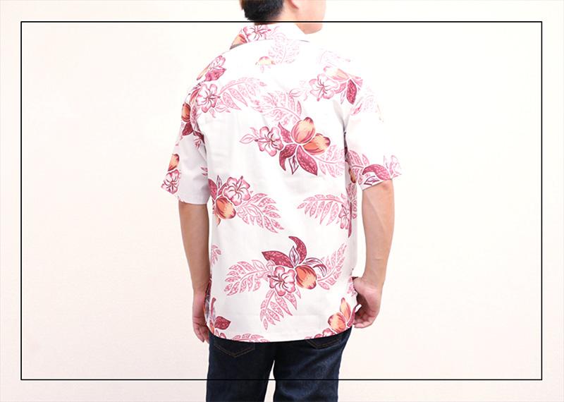 アロハシャツ−かりゆしウェア【マンゴハイビー(開襟シャツ) メンズ】はどんなファッションにも似合う