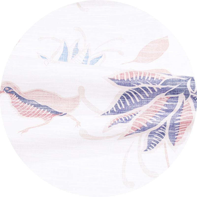 スリムフィットタイプ【ヤンバルクイナデイゴ(開襟シャツ)裏地仕様 メンズ】アイボリー