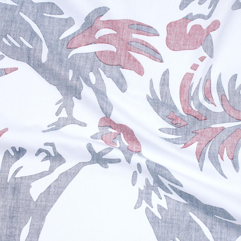 アロハシャツ−かりゆしウェア【タウチー(スリムフィット/ボタンダウンシャツ)裏地仕様 メンズ】は綿(ブロード)を使用