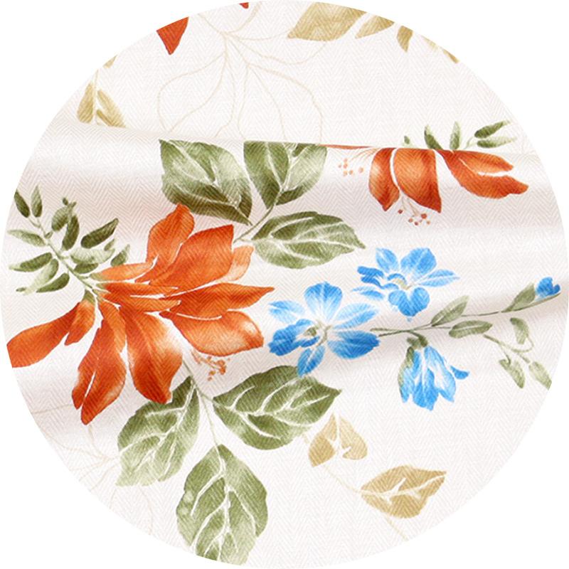 アロハシャツ−かりゆしウェア【リアルデイゴ(スリムフィット/ボタンダウンシャツ) メンズ】素材