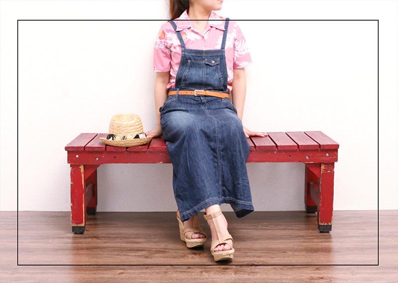 アロハシャツ−かりゆしウェア【マンゴハイビー(開襟シャツ) レディース】でリゾート