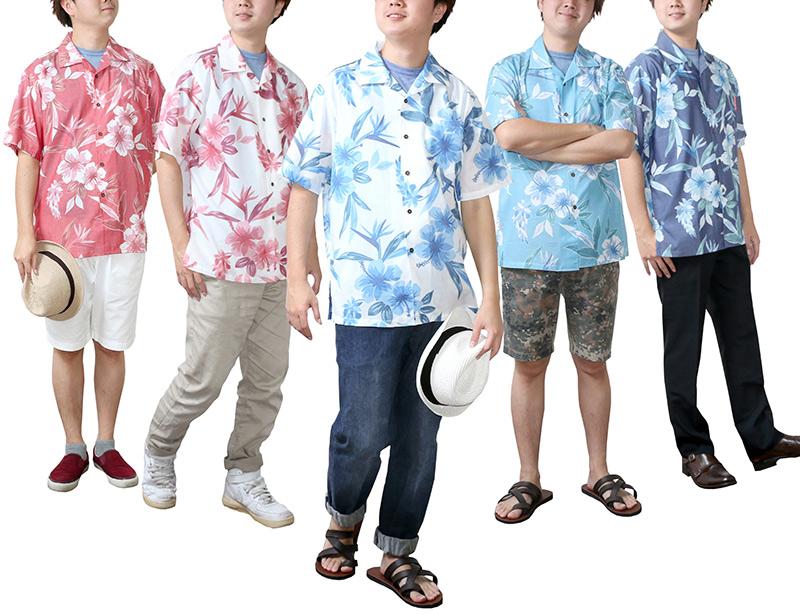 メンズ沖縄アロハシャツ(かりゆしウェア)カラーバリエーション2