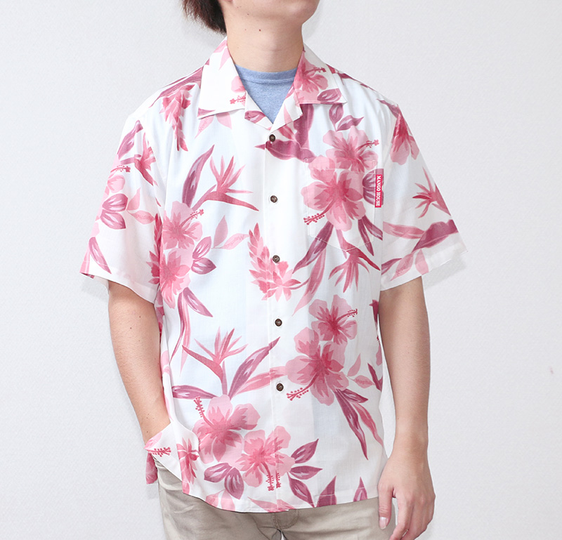 沖縄アロハシャツ(かりゆしウェア) メンズ オフレッド|前