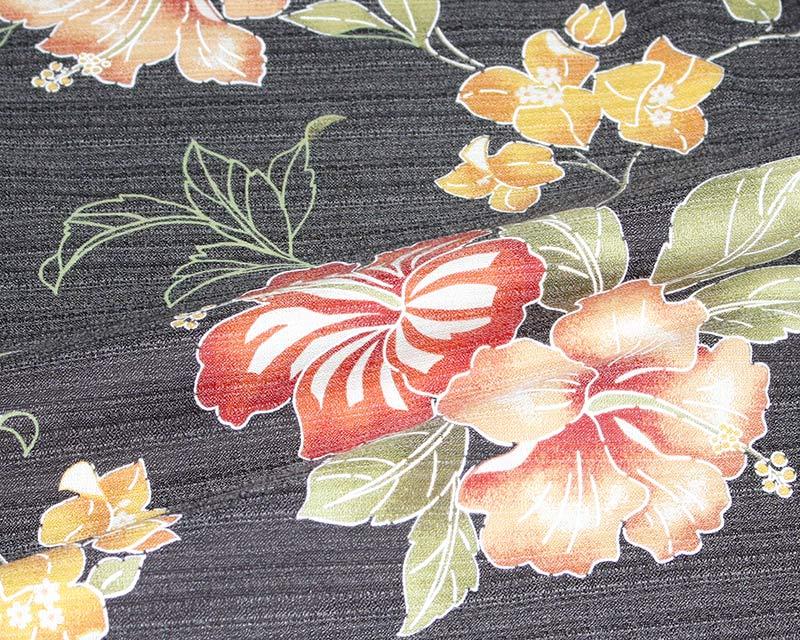 メンズスリムフィット沖縄アロハシャツ(かりゆしウェア)生地