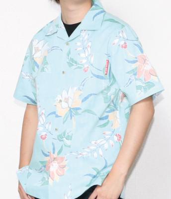シワが付きにくいメンズアロハスリムフィットシャツ