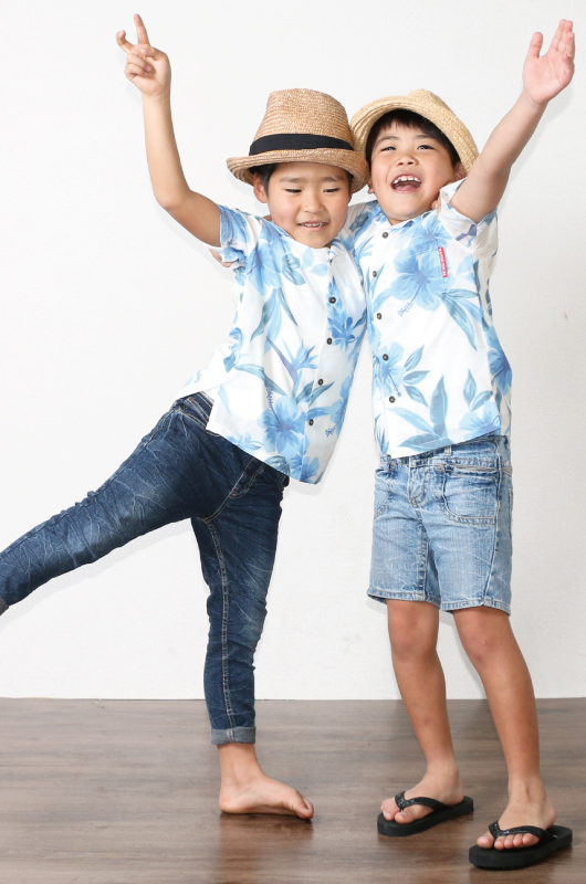 キッズアロハシャツは笑顔を作る