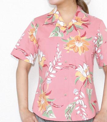 丈夫な素材のレディースアロハシャツ