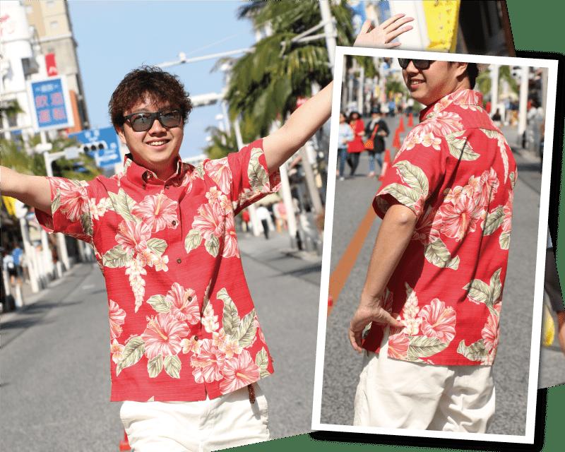 南国を感じる元気なメンズのスリムフィットシャツ サマー