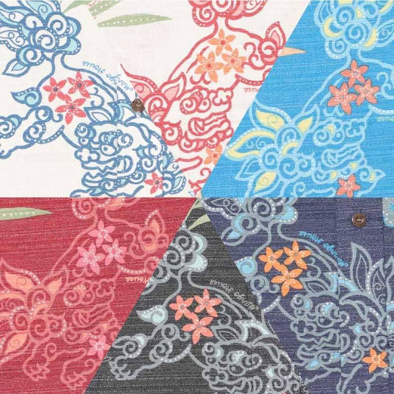 楽しい南国気分になれるメンズ沖縄アロハ-かりゆしウェア シャリ感