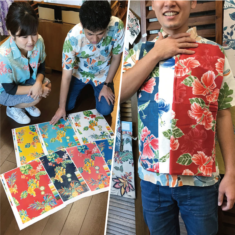 沖縄アロハシャツ 色彩 かりゆしウェア mangohouse マンゴハウス