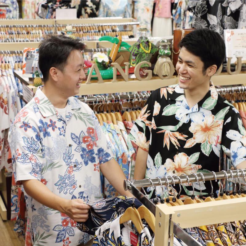 沖縄アロハシャツ 接客 かりゆしウェア mangohouse マンゴハウス