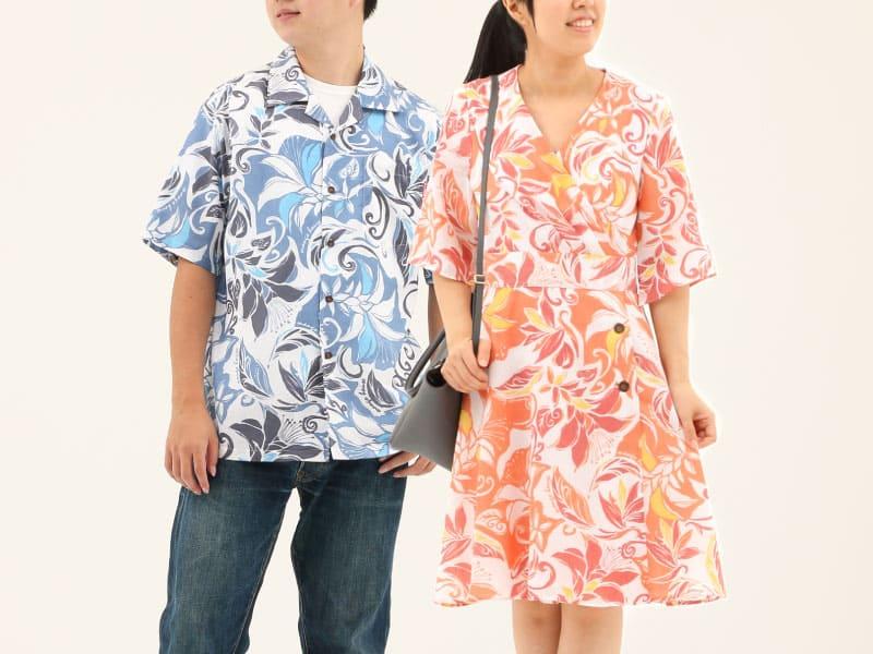 かりゆしウェディング おそろいコーデ 沖縄アロハ かりゆしウェア