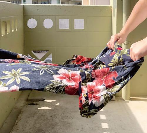 沖縄アロハシャツ 脱水後 かりゆしウェア