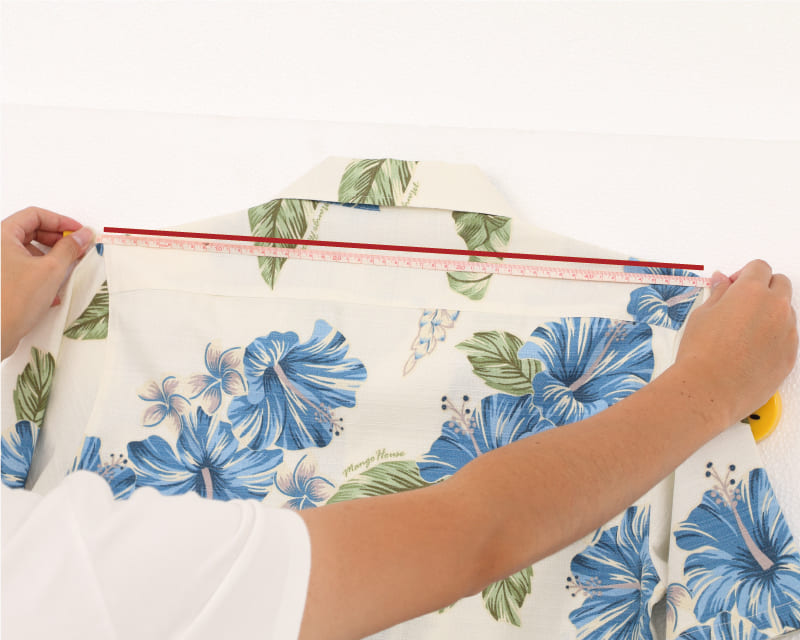 沖縄アロハシャツ 肩幅 かりゆしウェア