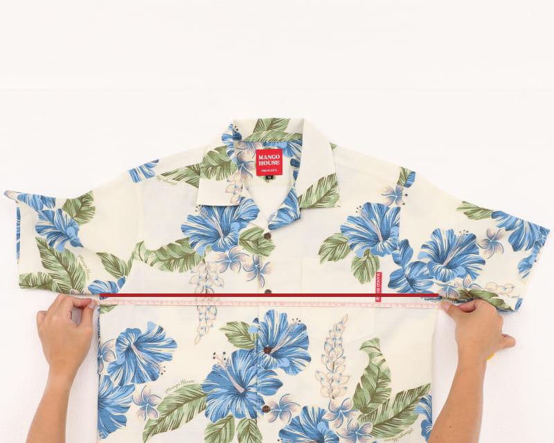 沖縄アロハシャツ 胸囲 かりゆしウェア