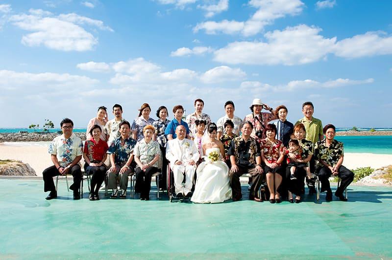 沖縄結婚式 サンマリーナホテル クリスタルオーシャンセレモニー かりゆしウエディング
