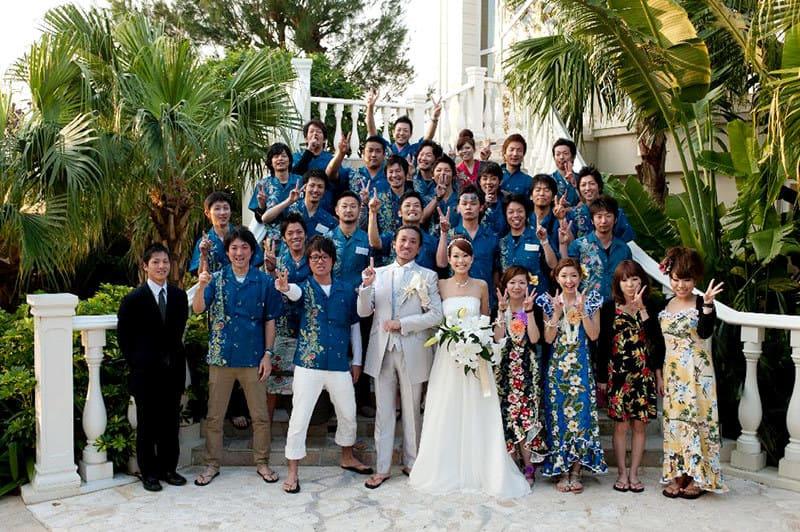 沖縄結婚式(かりゆしウェディング)記念写真を2011年2月19日にご提供いただきました。