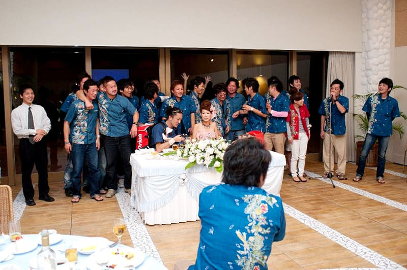 沖縄結婚式(かりゆしウェディング)記念写真を2011年2月19日にご提供いただきました・3枚目。