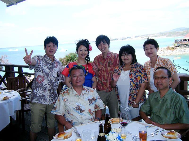沖縄結婚式(かりゆしウェディング)記念写真2013年1月12日にご提供いただきました・3枚目。