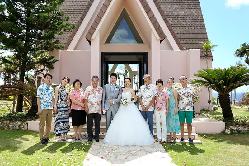 沖縄結婚式(かりゆしウェディング)記念写真を2015年9月5日にご提供いただきました。