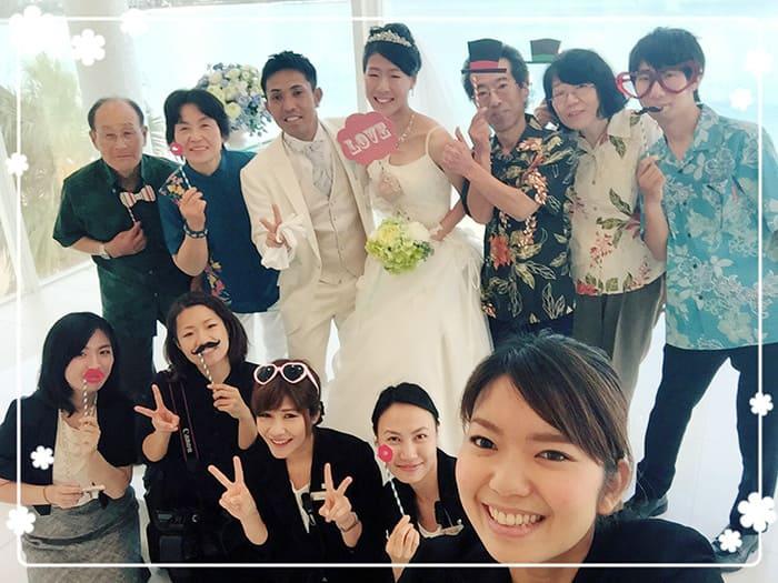 沖縄結婚式(かりゆしウェディング)記念写真を2016年1月15日にご提供いただきました。