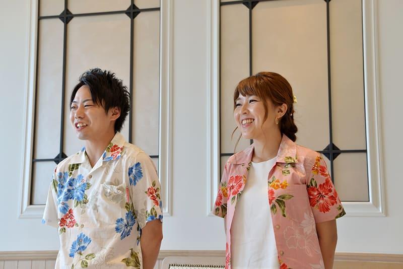 沖縄結婚式(かりゆしウェディング)で新郎・新婦様オソロ