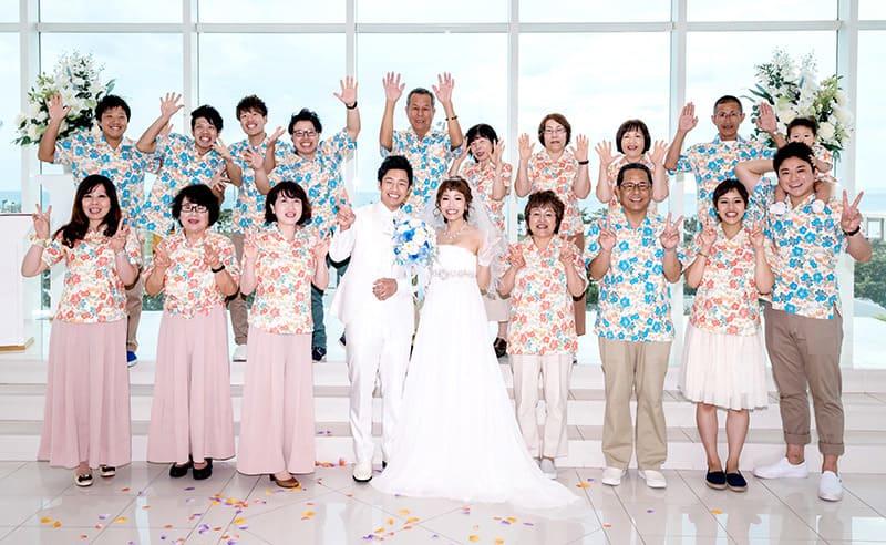 沖縄結婚式(かりゆしウェディング)でオソロコーデ写真を12月11日にお写真のご提供いただきました