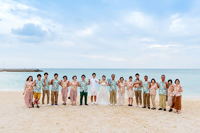 沖縄結婚式(かりゆしウェディング)でオソロコーデ(屋外)写真を12月11日にお写真のご提供いただきました