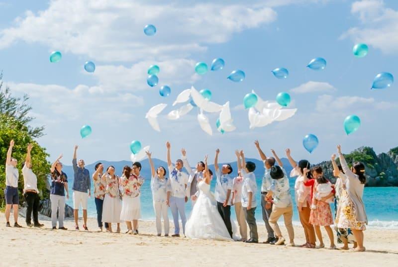 沖縄結婚式 アイネスヴィラノッチェ沖縄 かりゆしウエディング