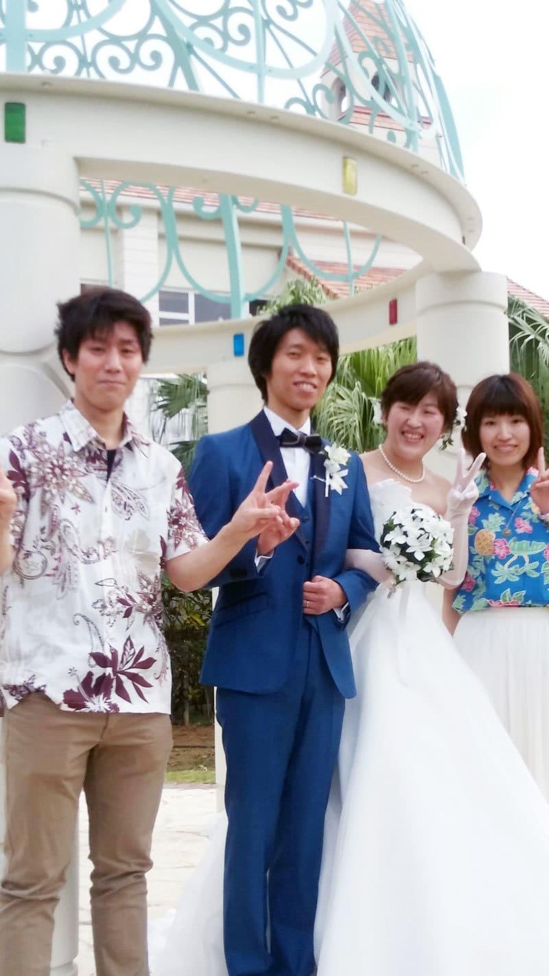 沖縄結婚式 かりゆしウェア ウェディング20170414