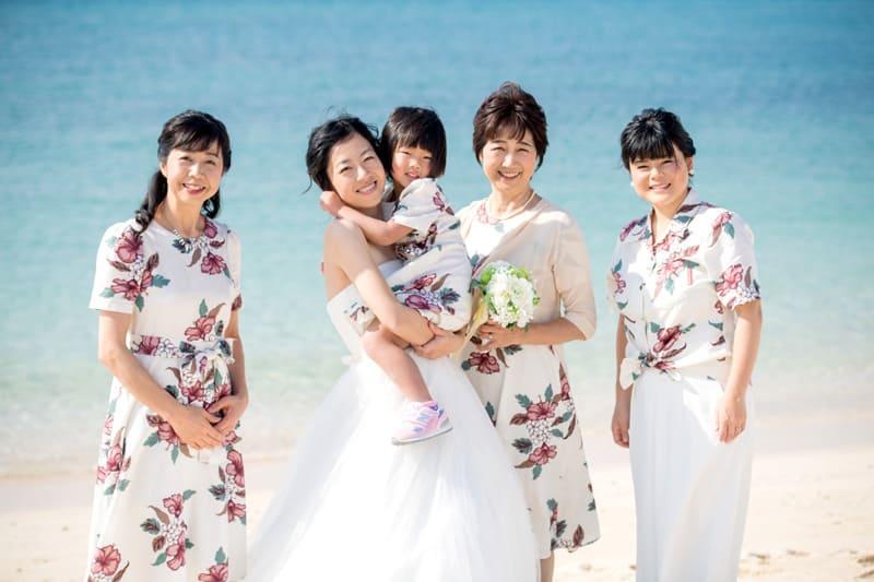 沖縄結婚式 ブライズメイド かりゆしウエディング 新婦