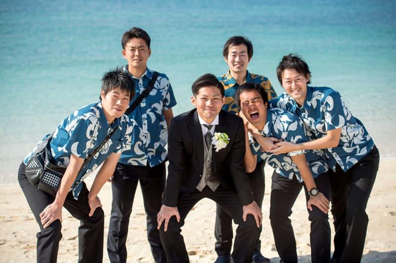 沖縄結婚式 サザンビーチホテル かりゆしウエディング 新郎
