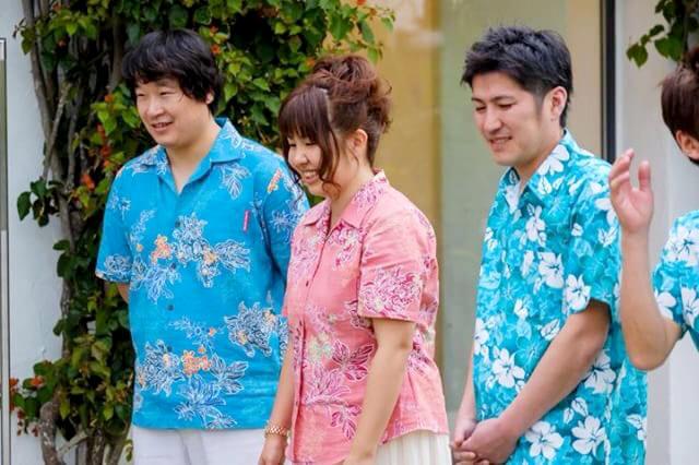 沖縄結婚式 夫婦おそろい かりゆしウエディング
