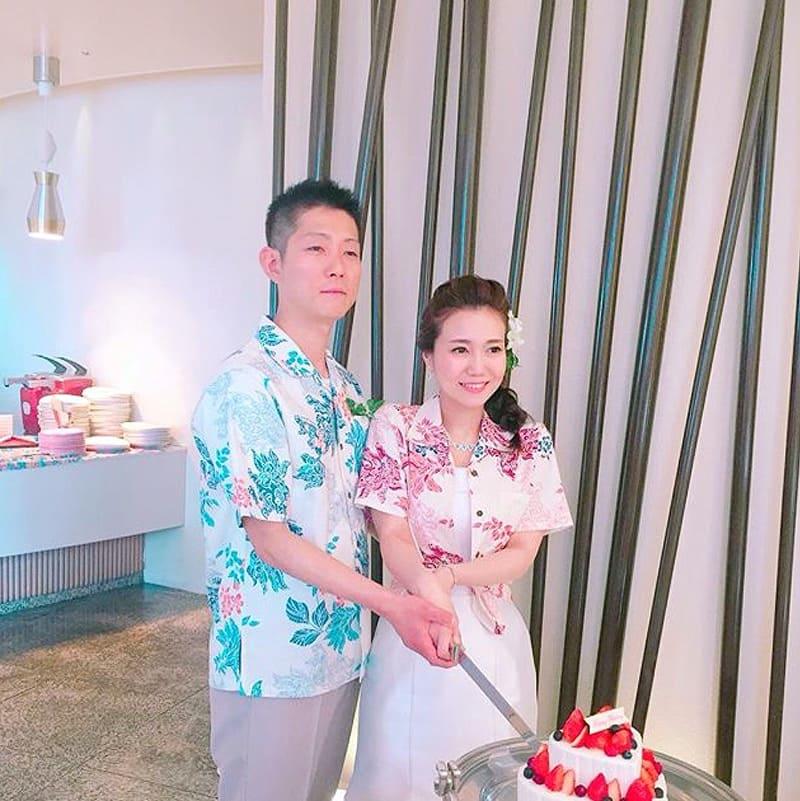 沖縄結婚式 新郎新婦コーデ かりゆしウエディング