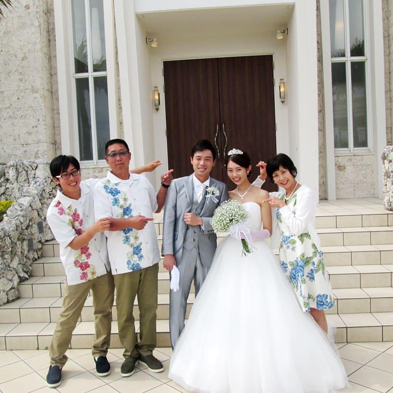 沖縄結婚式 真夏のような11月 かりゆしウエディング