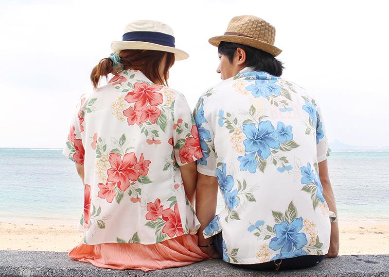 沖縄アロハシャツ(かりゆしウェア)専門店マンゴハウスのリゾートハイビーで南国リゾートを満喫