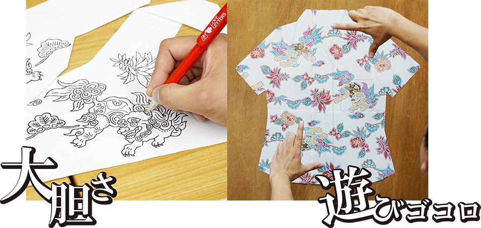 沖縄アロハシャツ(かりゆしウェア)専門店マンゴハウスの大胆さと遊びゴコロ。