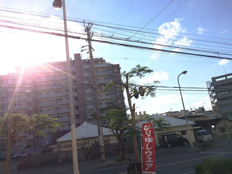 沖縄全快に晴れたね