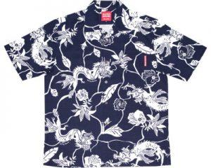 アロハシャツ ドラゴン型柄 かりゆしウェア