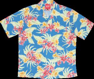 鮮やかなアロハシャツ