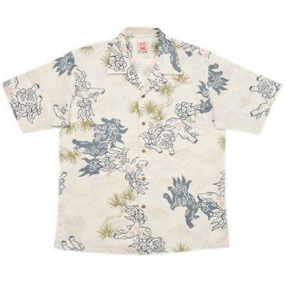沖縄アロハシャツ シーサー2010 かりゆしウェア