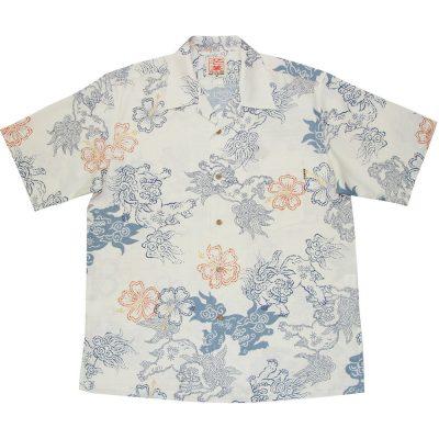 沖縄アロハシャツ シーサー2011 かりゆしウェア