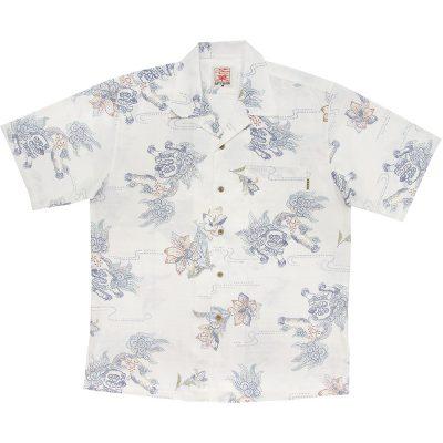 沖縄アロハシャツ シーサー2012 かりゆしウェア