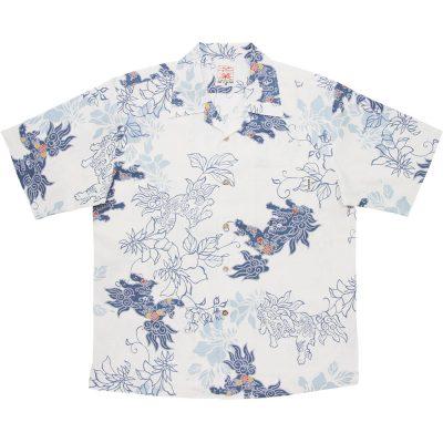 沖縄アロハシャツ シーサー2014 かりゆしウェア