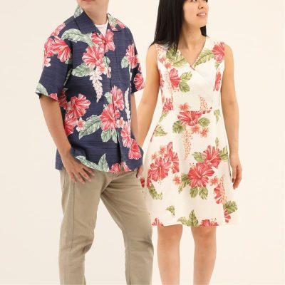 沖縄アロハシャツ 沖縄結婚式おそろい かりゆしウェア