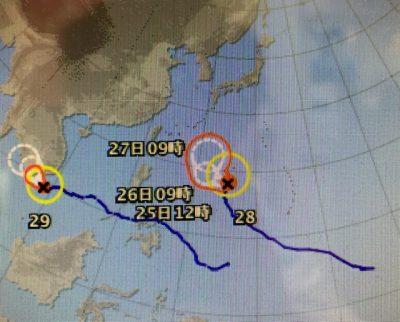 台風27号と28号