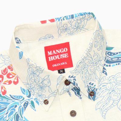 沖縄アロハシャツ ボタンダウンシャツ かりゆしウェア